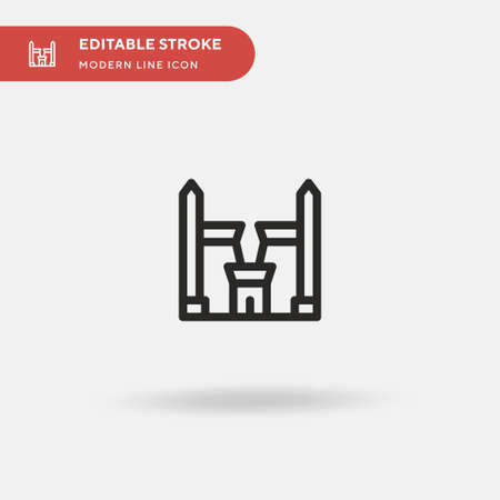 Temple Simple vector icon. Illustration symbol design template for web mobile UI element. Perfect color modern pictogram on editable stroke. Temple icons for your business project