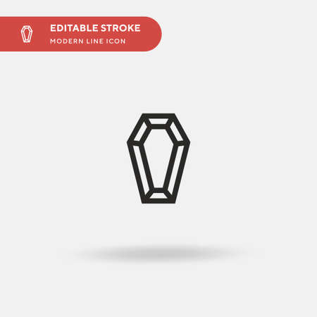 Coffin Simple vector icon. Illustration symbol design template for web mobile UI element. Perfect color modern pictogram on editable stroke. Coffin icons for your business project