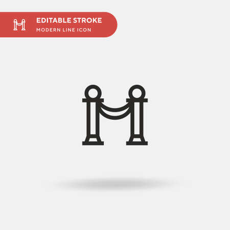 Barrier Simple vector icon. Illustration symbol design template for web mobile UI element. Perfect color modern pictogram on editable stroke. Barrier icons for your business project