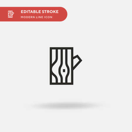 Wood Simple vector icon. Illustration symbol design template for web mobile UI element. Perfect color modern pictogram on editable stroke. Wood icons for your business project