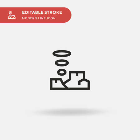 Mountain Simple vector icon. Illustration symbol design template for web mobile UI element. Perfect color modern pictogram on editable stroke. Mountain icons for your business project Ilustração