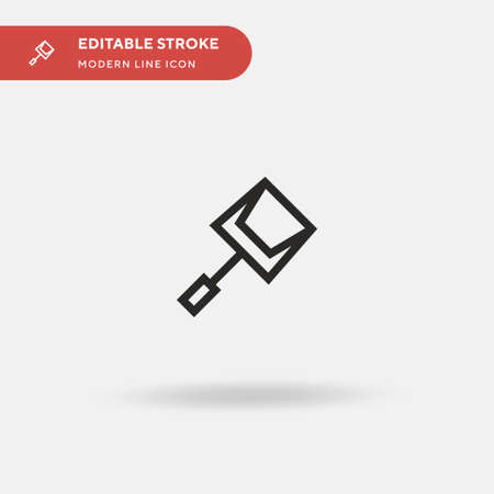 Clean Simple vector icon. Illustration symbol design template for web mobile UI element. Perfect color modern pictogram on editable stroke. Clean icons for your business project Stock Illustratie