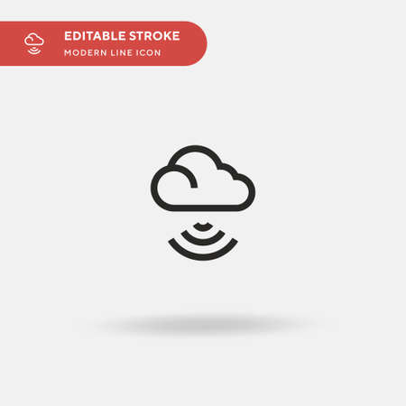 Wifi Simple vector icon. Illustration symbol design template for web mobile UI element. Perfect color modern pictogram on editable stroke. Wifi icons for your business project