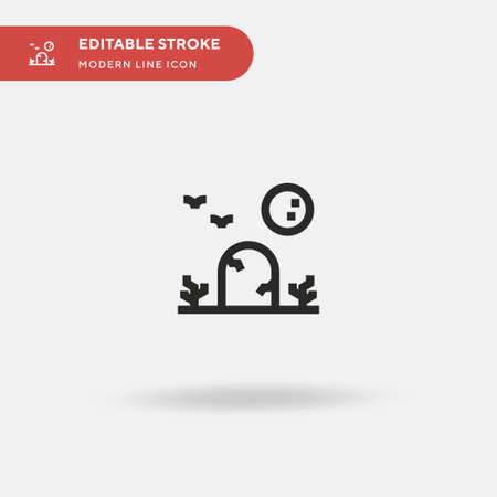 Graveyard Simple vector icon. Illustration symbol design template for web mobile UI element. Perfect color modern pictogram on editable stroke. Graveyard icons for your business project Archivio Fotografico - 150957049