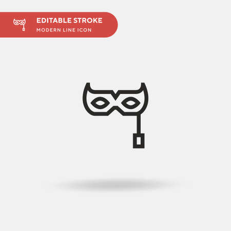 Eye Mask Simple vector icon. Illustration symbol design template for web mobile UI element. Perfect color modern pictogram on editable stroke. Eye Mask icons for your business project