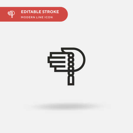 Prayer Simple vector icon. Illustration symbol design template for web mobile UI element. Perfect color modern pictogram on editable stroke. Prayer icons for your business project