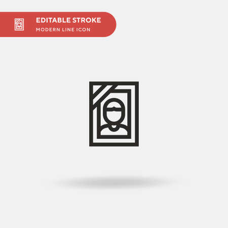 Funeral Simple vector icon. Illustration symbol design template for web mobile UI element. Perfect color modern pictogram on editable stroke. Funeral icons for your business project