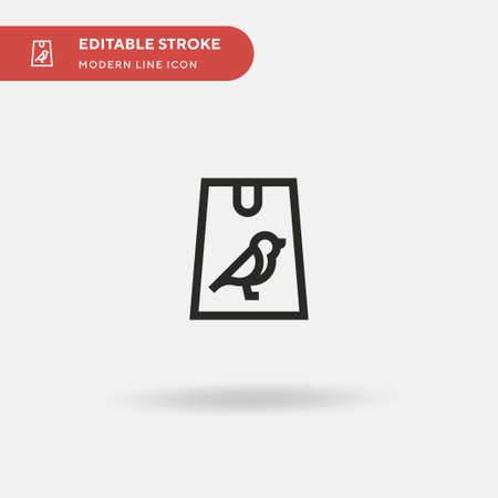 Animals Simple vector icon. Illustration symbol design template for web mobile UI element. Perfect color modern pictogram on editable stroke. Animals icons for your business project Stock Illustratie