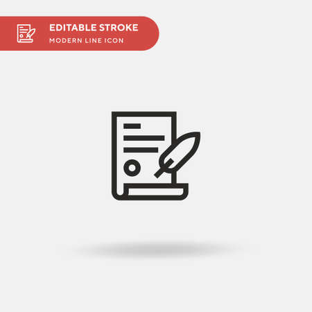 Document Simple vector icon. Illustration symbol design template for web mobile UI element. Perfect color modern pictogram on editable stroke. Document icons for your business project Illustration