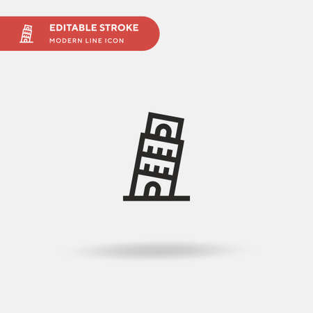 Pisa Tower Simple vector icon. Illustration symbol design template for web mobile UI element. Perfect color modern pictogram on editable stroke. Pisa Tower icons for your business project Illustration