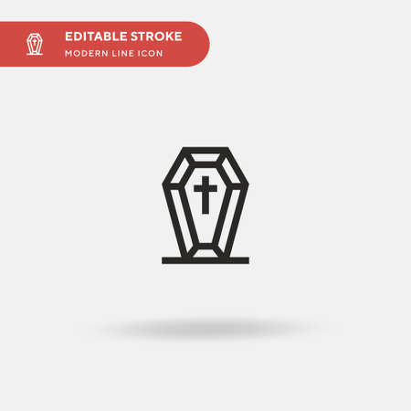 Coffin Simple vector icon. Illustration symbol design template for web mobile UI element. Perfect color modern pictogram on editable stroke. Coffin icons for your business project Archivio Fotografico - 150953094