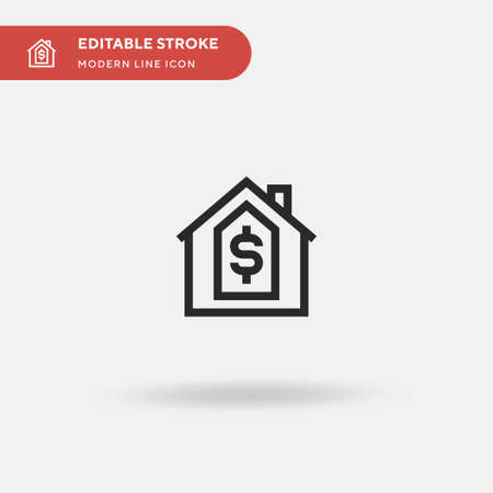 Real Estate Simple vector icon. Illustration symbol design template for web mobile UI element. Perfect color modern pictogram on editable stroke. Real Estate icons for your business project