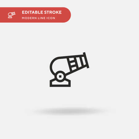 Cannon Simple vector icon. Illustration symbol design template for web mobile UI element. Perfect color modern pictogram on editable stroke. Cannon icons for your business project Illusztráció