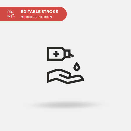 Hydroalcoholic Gel Simple vector icon. Illustration symbol design template for web mobile UI element. Perfect color modern pictogram on editable stroke. Hydroalcoholic Gel icons for your business project