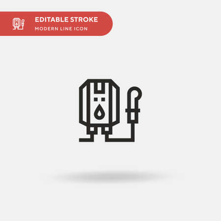 Water Heater Simple vector icon. Illustration symbol design template for web mobile UI element. Perfect color modern pictogram on editable stroke. Water Heater icons for your business project