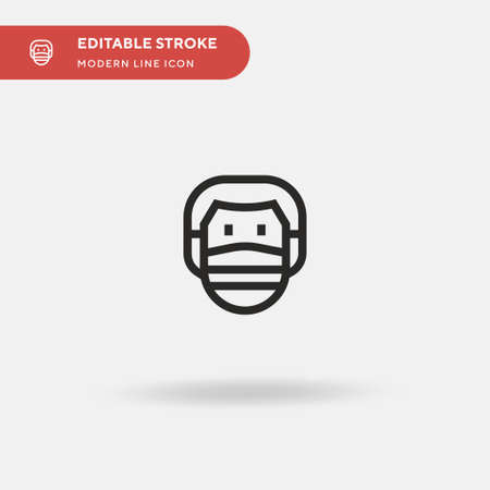 Face Mask Simple vector icon. Illustration symbol design template for web mobile UI element. Perfect color modern pictogram on editable stroke. Face Mask icons for your business project