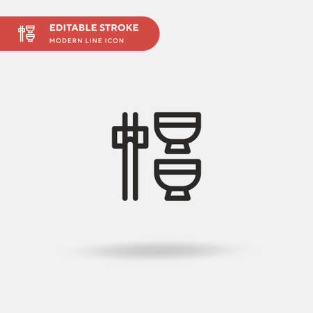 Asian Restaurant Simple vector icon. Illustration symbol design template for web mobile UI element. Perfect color modern pictogram on editable stroke. Asian Restaurant icons for your business project Vettoriali