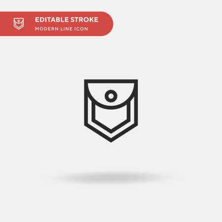 Cloth Simple vector icon. Illustration symbol design template for web mobile UI element. Perfect color modern pictogram on editable stroke. Cloth icons for your business project