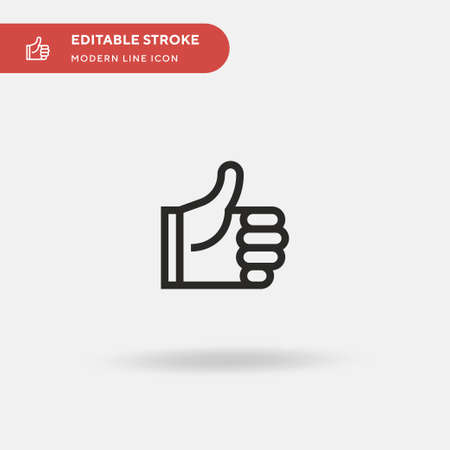Like Simple vector icon. Illustration symbol design template for web mobile UI element. Perfect color modern pictogram on editable stroke. Like icons for your business project