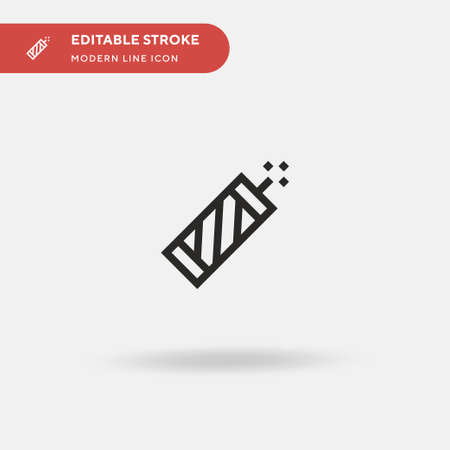 Firecracker Simple vector icon. Illustration symbol design template for web mobile UI element. Perfect color modern pictogram on editable stroke. Firecracker icons for your business project Vettoriali