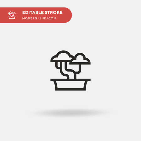Bonsai Simple vector icon. Illustration symbol design template for web mobile UI element. Perfect color modern pictogram on editable stroke. Bonsai icons for your business project Illustration