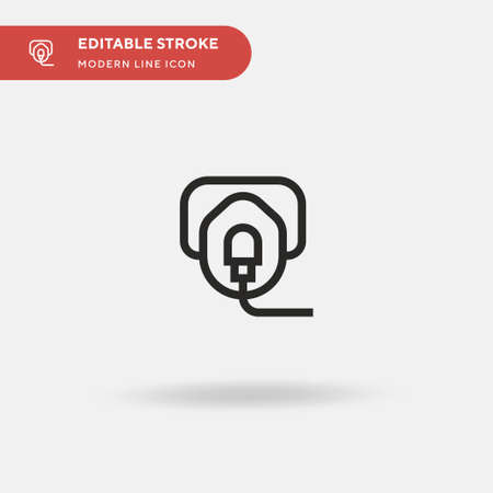 Oxygen Mask Simple vector icon. Illustration symbol design template for web mobile UI element. Perfect color modern pictogram on editable stroke. Oxygen Mask icons for your business project Иллюстрация