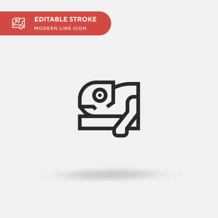 Chameleon Simple vector icon. Illustration symbol design template for web mobile UI element. Perfect color modern pictogram on editable stroke. Chameleon icons for your business project