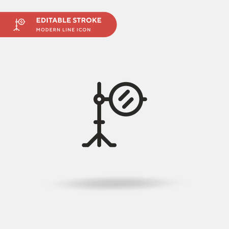 Reflector Simple vector icon. Illustration symbol design template for web mobile UI element. Perfect color modern pictogram on editable stroke. Reflector icons for your business project Ilustracja