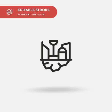 Space Colony Simple vector icon. Illustration symbol design template for web mobile UI element. Perfect color modern pictogram on editable stroke. Space Colony icons for your business project Illusztráció
