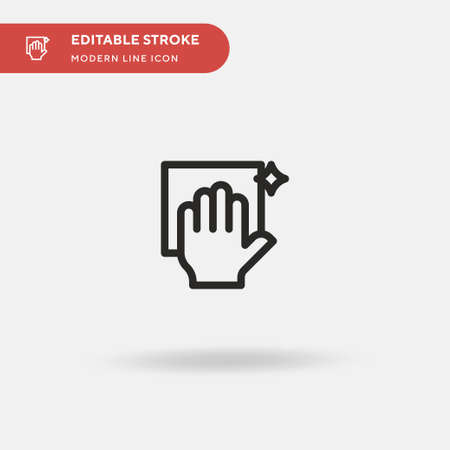 Cleaning Simple vector icon. Illustration symbol design template for web mobile UI element. Perfect color modern pictogram on editable stroke. Cleaning icons for your business project