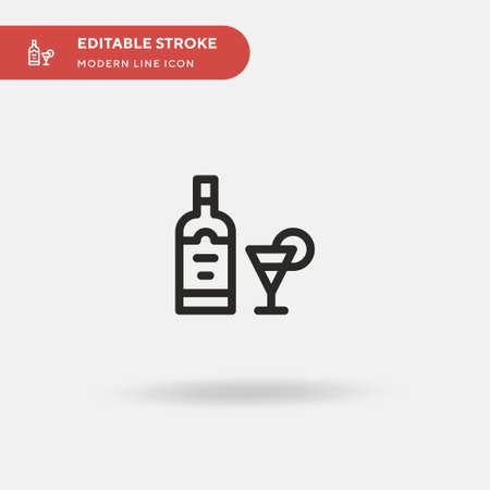 Limoncello Simple vector icon. Illustration symbol design template for web mobile UI element. Perfect color modern pictogram on editable stroke. Limoncello icons for your business project Ilustrace