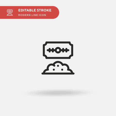 Cocaine Simple vector icon. Illustration symbol design template for web mobile UI element. Perfect color modern pictogram on editable stroke. Cocaine icons for your business project  イラスト・ベクター素材