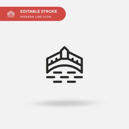 Ponte Vecchio Simple vector icon. Illustration symbol design template for web mobile UI element. Perfect color modern pictogram on editable stroke. Ponte Vecchio icons for your business project