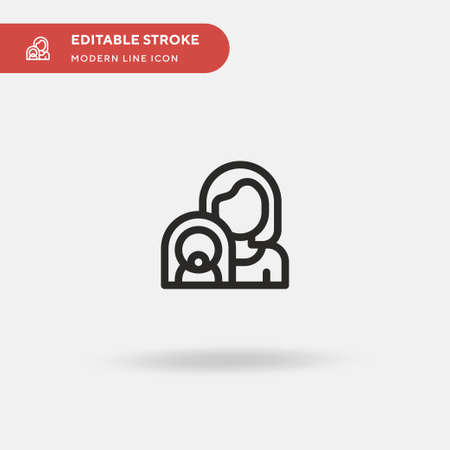 Mom Simple vector icon. Illustration symbol design template for web mobile UI element. Perfect color modern pictogram on editable stroke. Mom icons for your business project