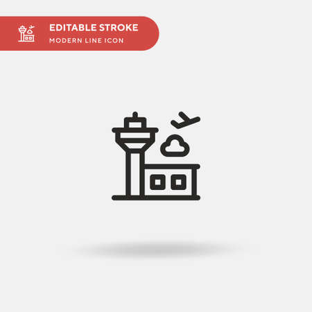 Airport Simple vector icon. Illustration symbol design template for web mobile UI element. Perfect color modern pictogram on editable stroke. Airport icons for your business project