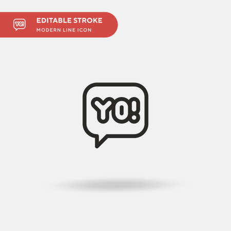Yo Simple vector icon. Illustration symbol design template for web mobile UI element. Perfect color modern pictogram on editable stroke. Yo icons for your business project