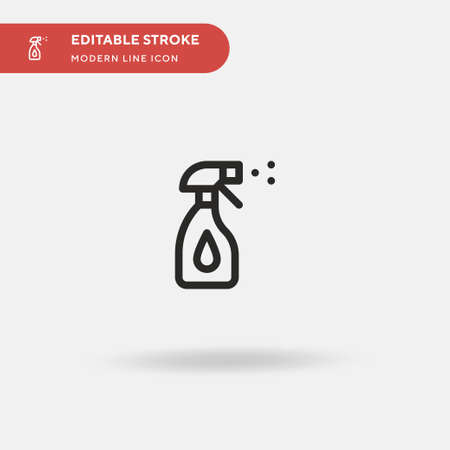 Cleaner Simple vector icon. Illustration symbol design template for web mobile UI element. Perfect color modern pictogram on editable stroke. Cleaner icons for your business project