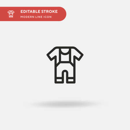 Baby Dress Simple vector icon. Illustration symbol design template for web mobile UI element. Perfect color modern pictogram on editable stroke. Baby Dress icons for your business project Çizim