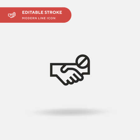 No Handshake Simple vector icon. Illustration symbol design template for web mobile UI element. Perfect color modern pictogram on editable stroke. No Handshake icons for your business project Illusztráció
