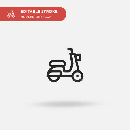 Scooter Simple vector icon. Illustration symbol design template for web mobile UI element. Perfect color modern pictogram on editable stroke. Scooter icons for your business project Illustration