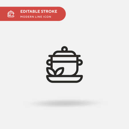 Herbs Simple vector icon. Illustration symbol design template for web mobile UI element. Perfect color modern pictogram on editable stroke. Herbs icons for your business project
