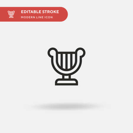 Harp Simple vector icon. Illustration symbol design template for web mobile UI element. Perfect color modern pictogram on editable stroke. Harp icons for your business project Vectores