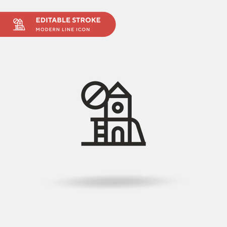 Forbidden Simple vector icon. Illustration symbol design template for web mobile UI element. Perfect color modern pictogram on editable stroke. Forbidden icons for your business project