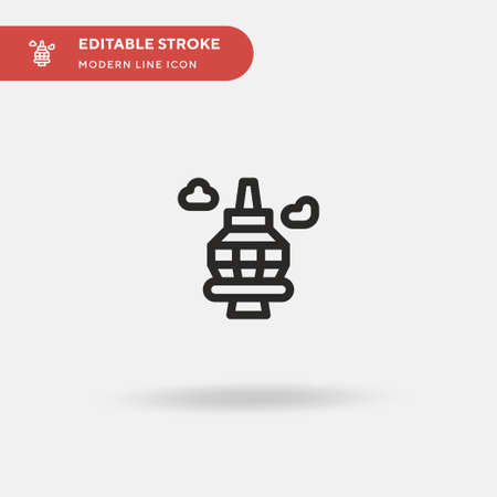 Cn Tower Simple vector icon. Illustration symbol design template for web mobile UI element. Perfect color modern pictogram on editable stroke. Cn Tower icons for your business project Illusztráció