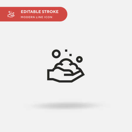 Washing Hand Simple vector icon. Illustration symbol design template for web mobile UI element. Perfect color modern pictogram on editable stroke. Washing Hand icons for your business project