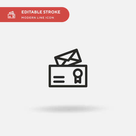 Official Documents Simple vector icon. Illustration symbol design template for web mobile UI element. Perfect color modern pictogram on editable stroke. Official Documents icons for your business project