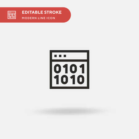 Encode Simple vector icon. Illustration symbol design template for web mobile UI element. Perfect color modern pictogram on editable stroke. Encode icons for your business project