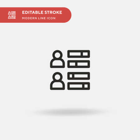 Skills Simple vector icon. Illustration symbol design template for web mobile UI element. Perfect color modern pictogram on editable stroke. Skills icons for your business project Ilustracja