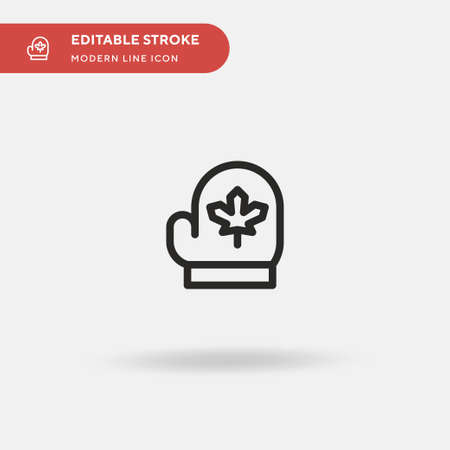 Mittens Simple vector icon. Illustration symbol design template for web mobile UI element. Perfect color modern pictogram on editable stroke. Mittens icons for your business project