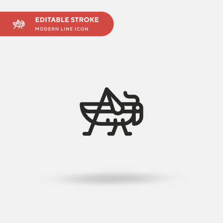 Grasshopper Simple vector icon. Illustration symbol design template for web mobile UI element. Perfect color modern pictogram on editable stroke. Grasshopper icons for your business project